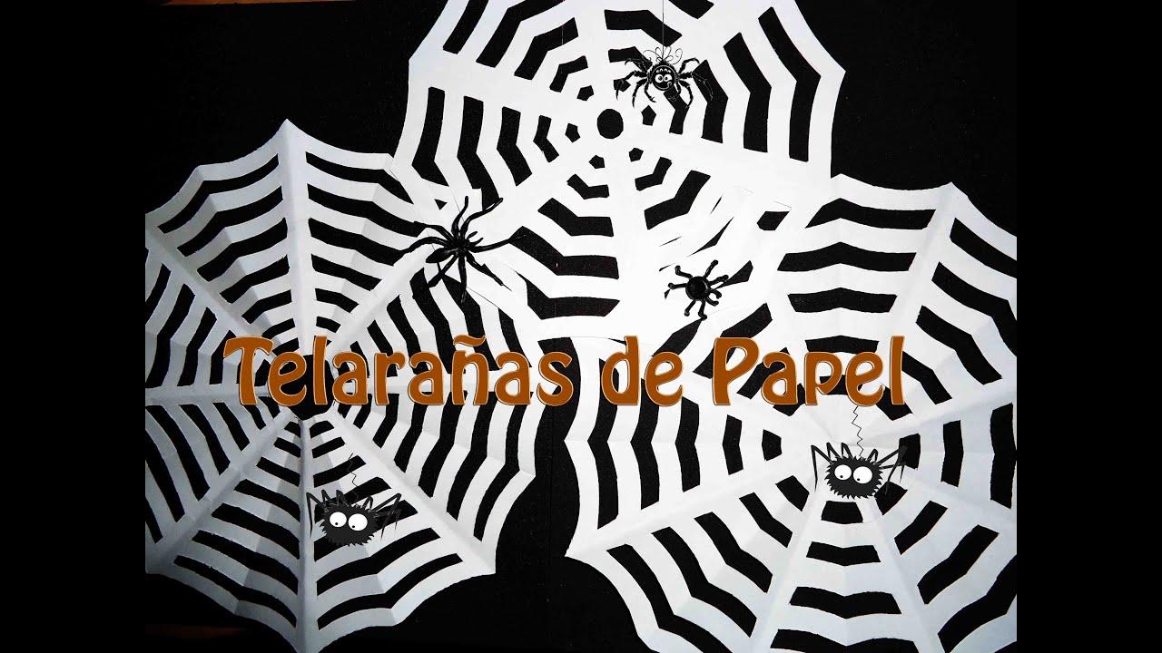 Kirigami Telaraña de papel (DIY) Halloween - YouTube