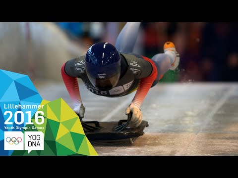 Skeleton - Ashleigh Fay Pittaway (GBR) wins Women's gold   Lillehammer 2016 Youth Olympic Games