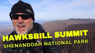HIKING HAWKSBILL SUMMIT TRAIL IN SHENANDOAH NATIONAL PARK
