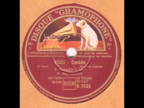 "Max Dearly "" Azaïs-scène de l'attente "" 1933"