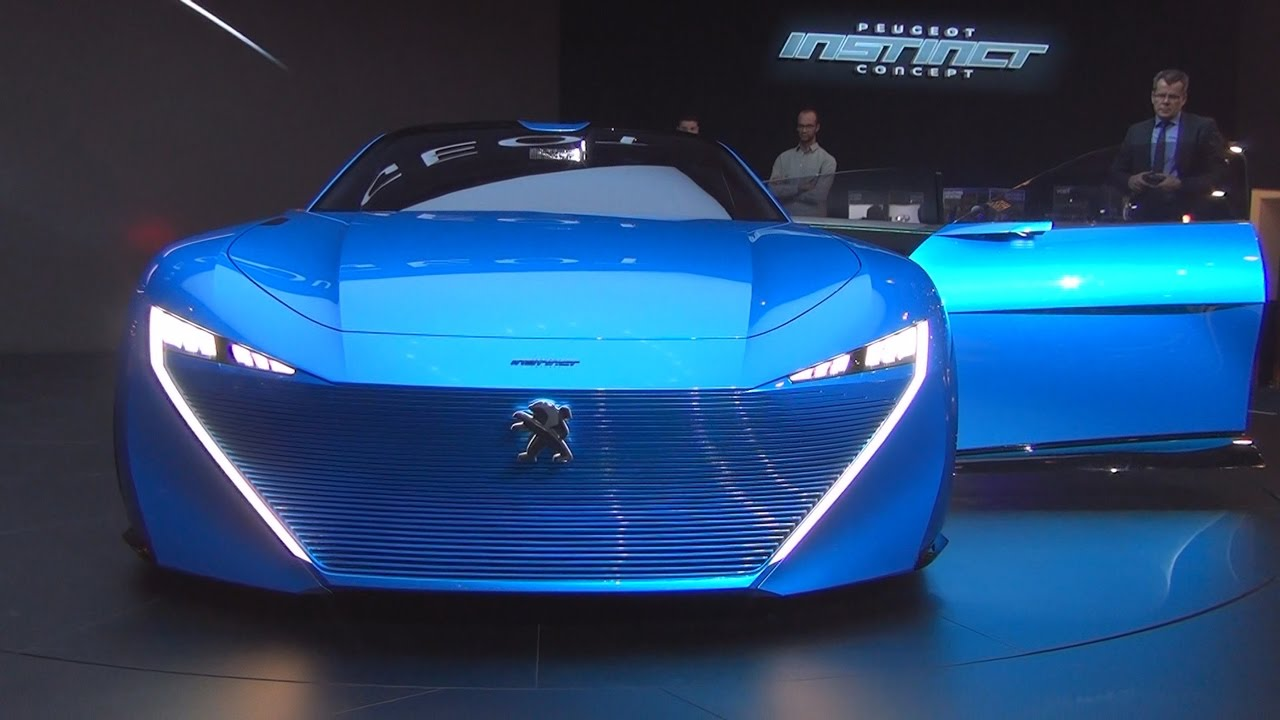 Peugeot instinct concept 2017 exterior and interior in 3d