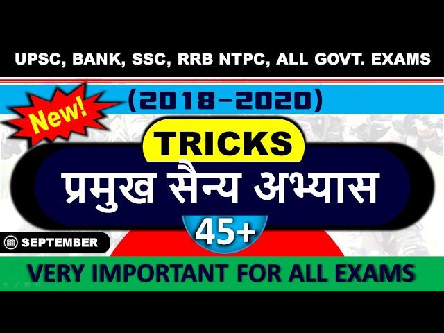 🔴 Gk Tricks : Joint Military Exercise 2020 of India | sanyukt sainya abhyas 2020 Trick