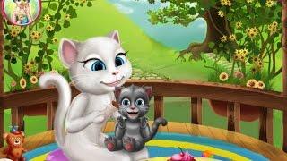 Игра-мультик  Говорящая кошка Анжела купает малыша