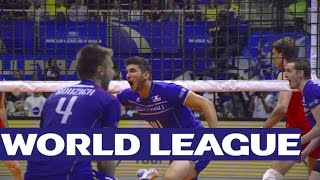 World League Final: Massive French block ends phenomenal rally!
