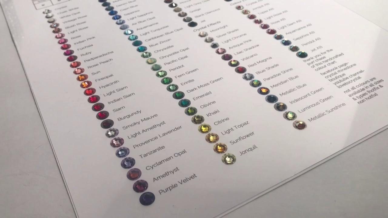 Swarovski Crystal Color Chart 2020.Episode 24 How I Select My Swarovski Crystal Colors
