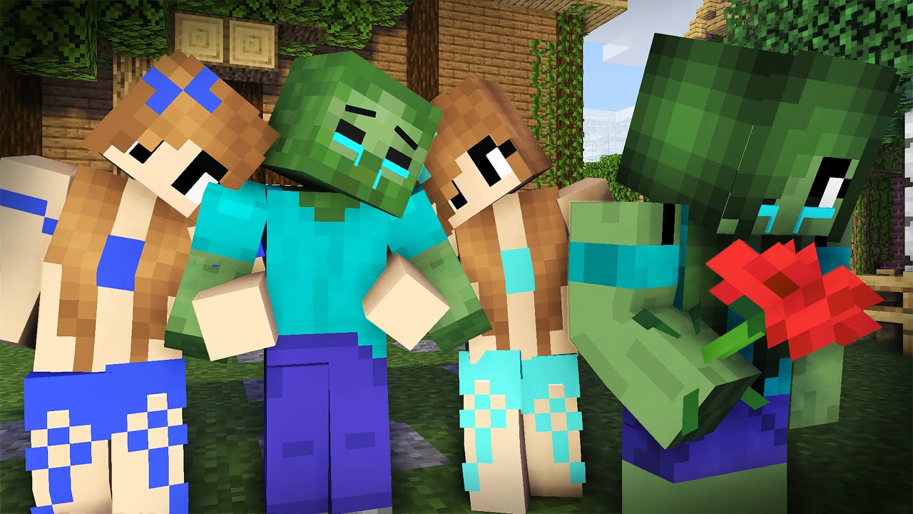 Zombie Sad Life Episode 4 Minecraft Animation Youtube