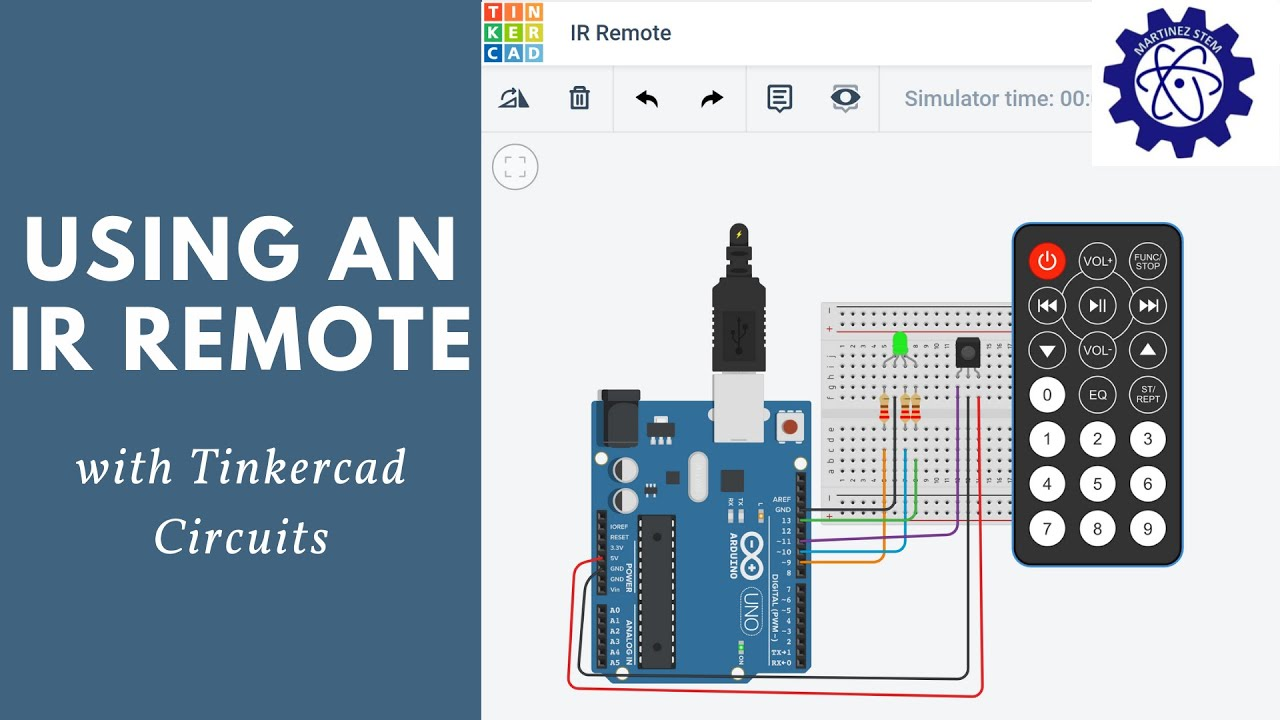 How to Use an IR Remote in Tinkercad - YouTube
