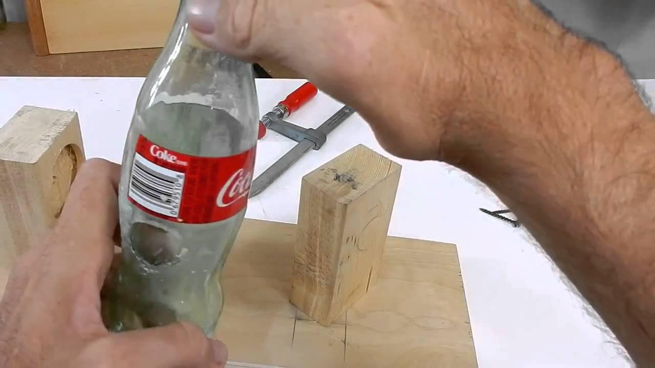 come forare bottiglia vetro - youtube