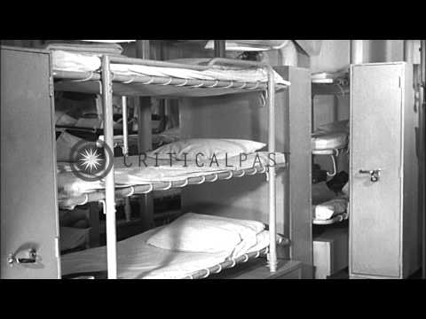Improving living conditions on US Navy ships. The USS Meredith (DD-890) HD Stock Footage