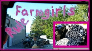 Farmgirl Takes over MY Tractor with Bling!!! C'MON MAN!!!