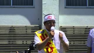 7月11日に島根県で行われた参院選比例区・山本ひろし候補の街頭演説会。