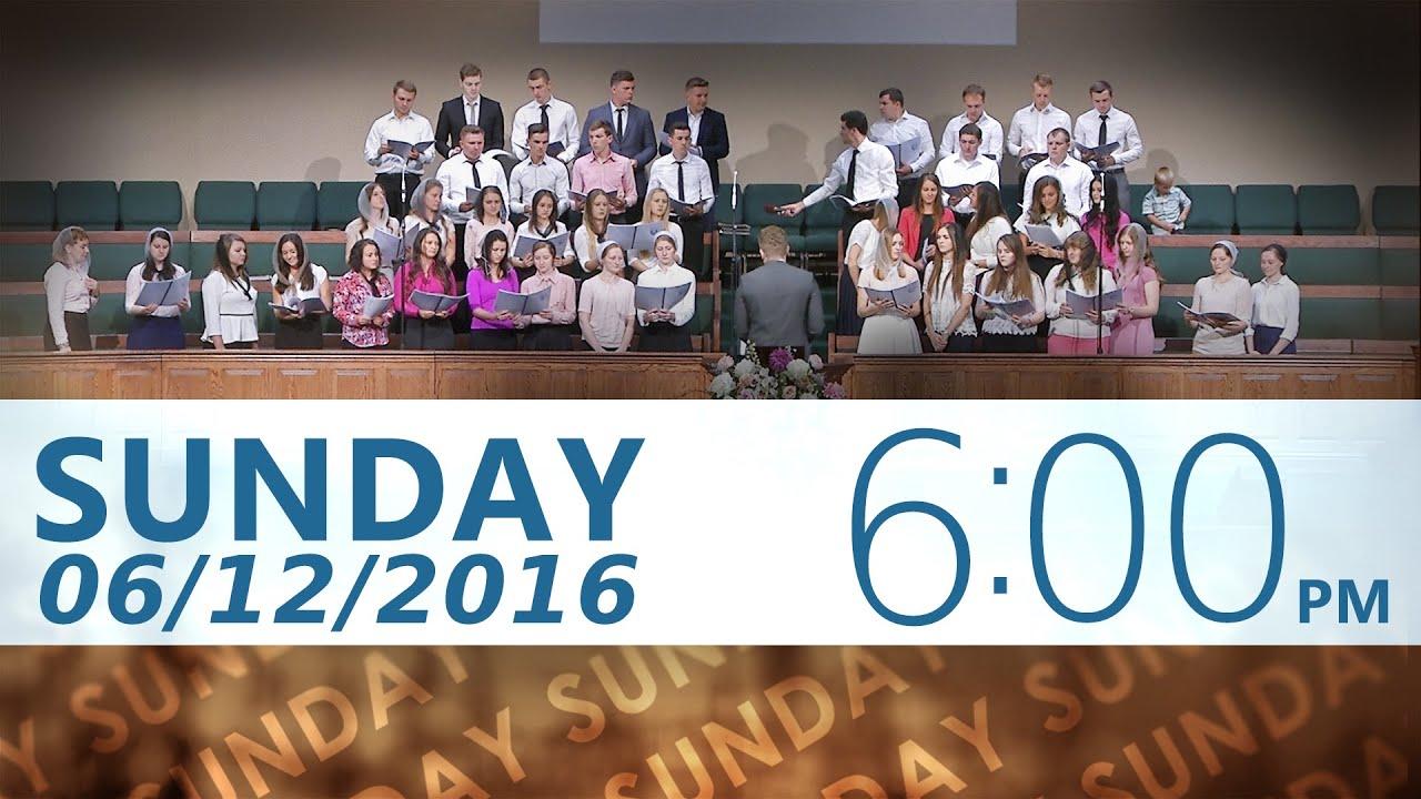 06/12/2016 Sunday 6pm
