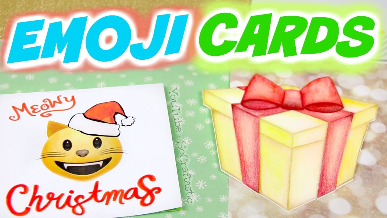 Diy emoji christmas cards holiday greeting card designs how to diy emoji christmas cards holiday greeting card designs how to socraftastic youtube m4hsunfo Images