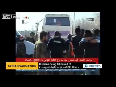 Homs evacuation starts under UN supervision