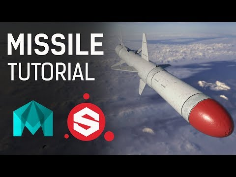 3D Missile ~ Modeling | UVing | Texturing Tutorial