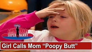 "Angry Girl Calls Mom ""Poopy Butt"" 