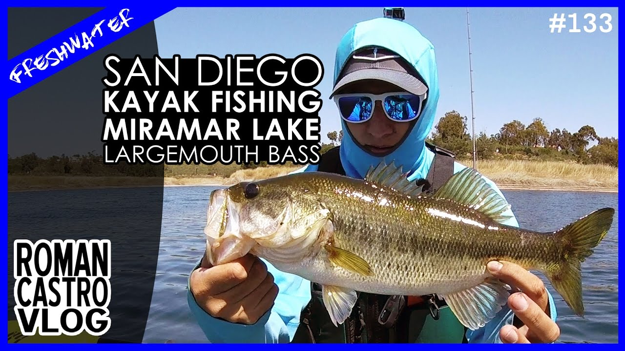 Spring fishing largemouth bass in san diego miramar lake for Bass fishing san diego