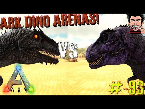 ARK SURVIVAL EVOLVED T REX OMEGA VS GIGANOTOSAURUS COMBATE ARENA GAMEPLAY ESPAÑOL