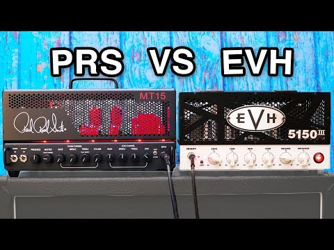 High Gain Mini Amp Shootout - PRS MT15 VS EVH 5150 III LBX