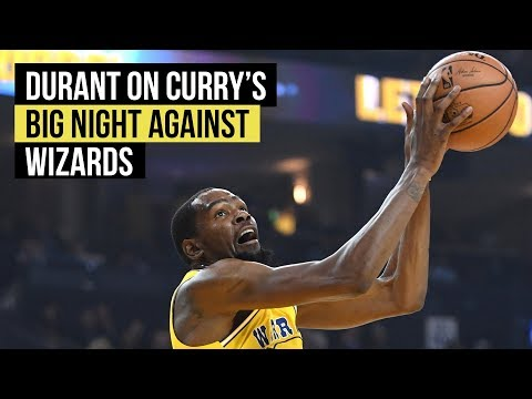 Warriors' Durant on Curry's big night