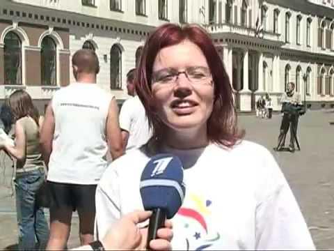 LATVIA 2006  TV  coverage  World Harmony Run