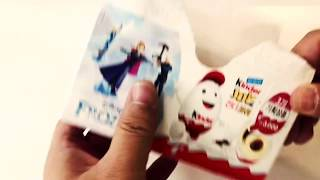 Surprise Eggs Disney Frozen Characters 3 Eggs [#KinderJoy #SupriseEgg #Chocolate]