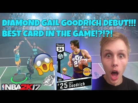 DIAMOND GAIL GOODRICH DEBUT!! BEST DIAMOND IN THE GAME!?!?! NBA 2K17 MYTEAM BLACKTOP GAMEPLAY