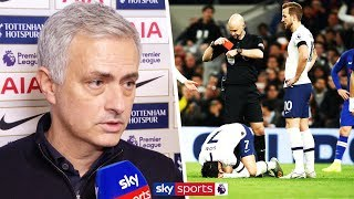 """Jose Mourinho wishes Antonio Rudiger a speedy recovery from his """"broken ribs"""" after Son is sent off"""