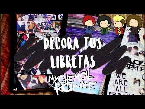 DIY:DECORA TUS LIBRETAS DE MCR!!♥💀♥