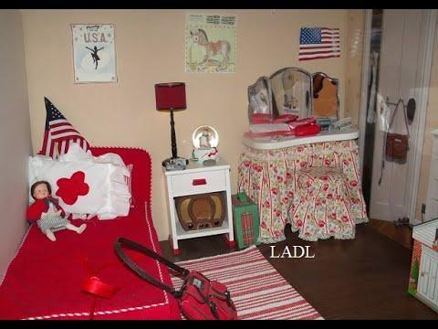 American Girl Molly Bedroom Tour + Listen To Molly's Radio