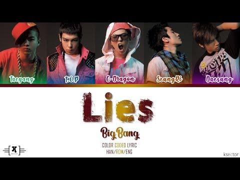 """BIGBANG - """"Lies (거짓말)"""" Lyrics [Color Coded Han/Rom/Eng]"""