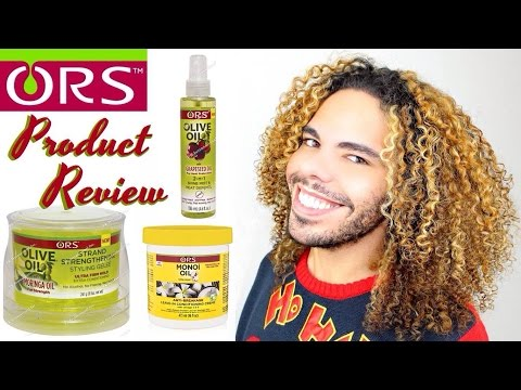 ORS Olive Monoi Moringa Oil Product Review Leave In Conditioner Strand Strengthening Styling Geleé