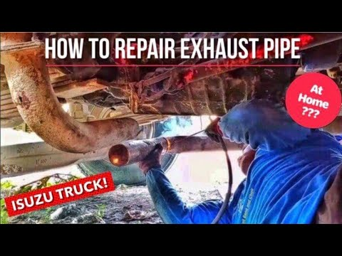 HOW TO REPAIR EXHAUST PIPE AT HOME | ISUZU TRUCK