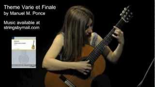 Theme Varie et Finale by Manuel M. Ponce - Music Only - Irene Gomez | Strings By Mail Sponsored