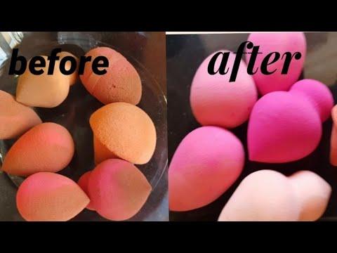How to clean beauty blender or makeup sponges/ የሜካፕ ስፖንጅ እንዴት እንደሚጸዳ
