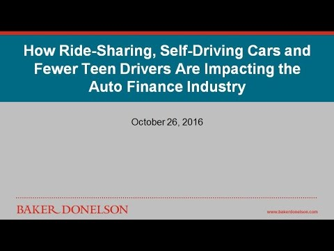 How Ride-Sharing, Self-Driving Cars and Fewer Teen Drivers Are Impacting the Auto Finance Industry