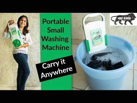Smallest Washing Machine, Bucket Washing Machine , Carry & Use Anywhere | Made In India