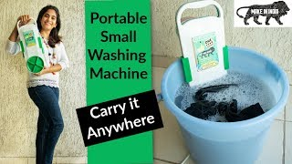 Smallest Washing Machine, Bucket Washing Machine , Carry & Use Anywhere | Made in India