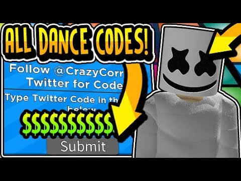 dance off codes roblox