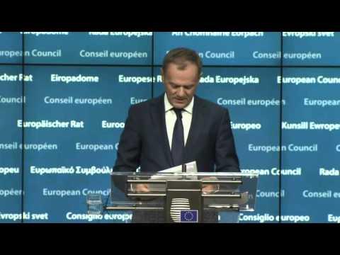 #UKinEU: European Council - Donald Tusk final briefing