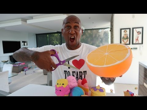 Daddy Cutting Open Tianas Giant Squishy Toys  Toys AndMe