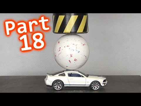 Toy Car Crusher - Part 18 | CARS vs GIANT GOBSTOPPERS