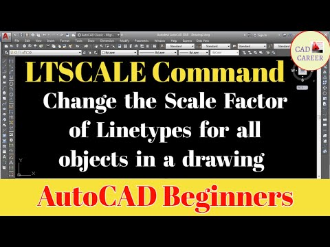 Set Line Type Scale In AutoCAD | Lts Command In Autocad | How To Line Type Scale In Autocad