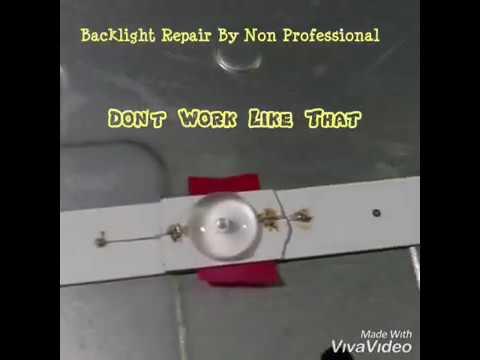 LED TV Backlight Repair Help