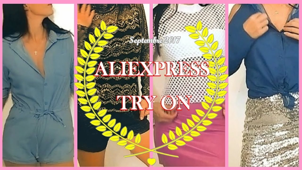 Aliexpress Try On Haul Vetements Tenues Look Youtube