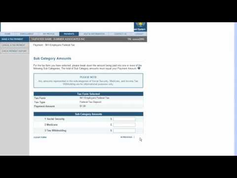 Making Federal Tax Deposit Payment Using Eftps Youtube