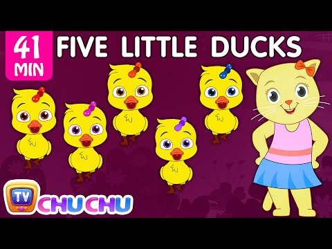 Thumbnail: Five Little Ducks Plus Many More Nursery Rhymes | Cartoon Songs for Kids | Cutians | ChuChu TV