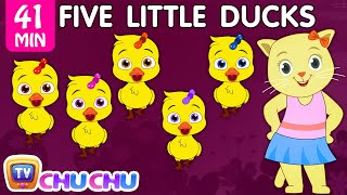 Five Little Ducks Plus Many More Nursery Rhymes | Cartoon Songs for Kids | Cutians | ChuChu TV