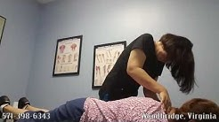 Chiropractic Adjustment Using an Activator and Active Release by Dr. Michelle