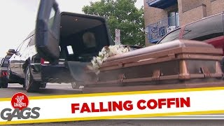 Coffin Blocks Cars from Driving By